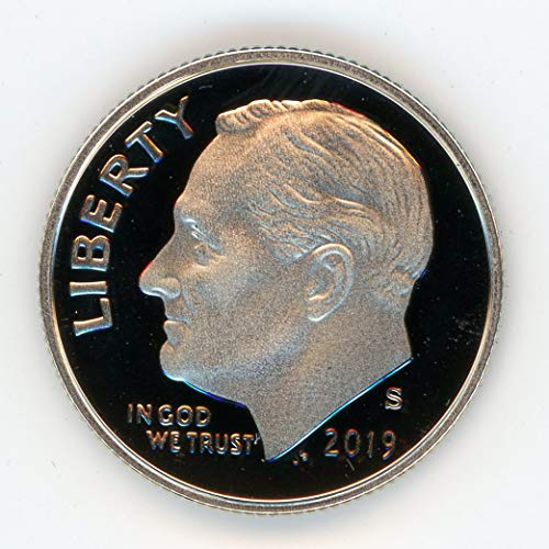 Deep Cameo Proof Roosevelt Dime - 2019 S Roosevelt Dime Deep Cameo Proof US Mint