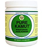 Pure Kamut Organic Wheatgrass Powder, 45 Servings, 4-oz Container