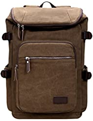 Eshow Men Durable School Bag Backpacks for Travel Hiking 16 17 Laptop Carry on Duffel Weekend Backpack Canvas...