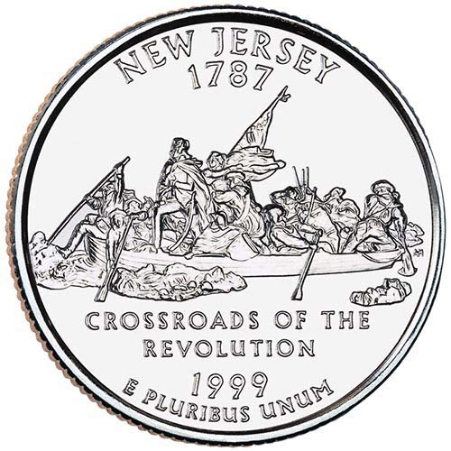 1999 New Jersey State Quarter - 1999 S Clad Proof New Jersey State Quarter Choice Uncirculated US Mint