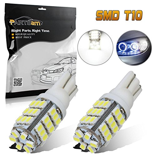 PartsSquare 2Pcs 6000K White 42-3020-SMD 921 912 158 W5W 194 Backup Reverse Led Bulb Lamp