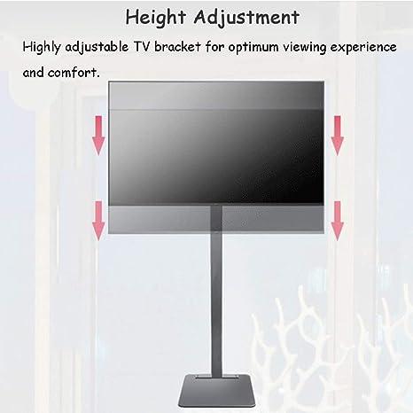 ZAQI Soporte TV Trole Soporte Universal for TV con Almacenamiento, 32/40/42/43/49/50/55/60/65/70 Pulgadas Televisores de Pantalla Plana OLED de Plasma/LCD/LED, Negro, Carga 70 kg (Size : A): Amazon.es: Hogar