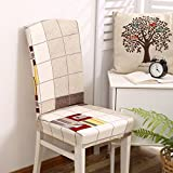 TDLC Upholstery twin chairs and tables and chairs set home stretch fabrics modern minimalist seat cushion-back dining chairs, set Style 16