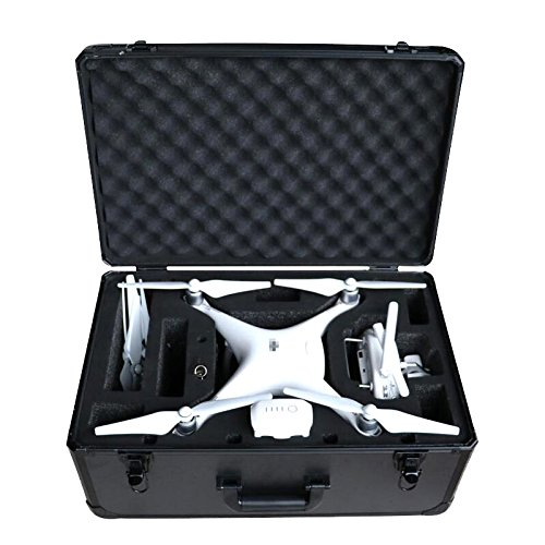 Pro Aluminum Hard Case (HUL Premium Aluminium Carrying Case for DJI Phantom 3 Standard / SE / Professional / Advanced / 4K / Phantom 4 / Phantom 4 Pro Drones)
