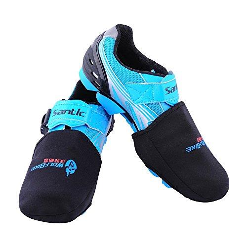 説教黒深くWOLFBIKE Thermal Toe Cover Warmer Design for Road or Mountain Bike Shoes Winter Cycling [並行輸入品]