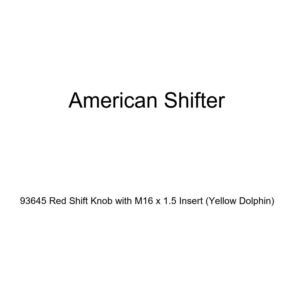 Yellow Dolphin American Shifter 93645 Red Shift Knob with M16 x 1.5 Insert