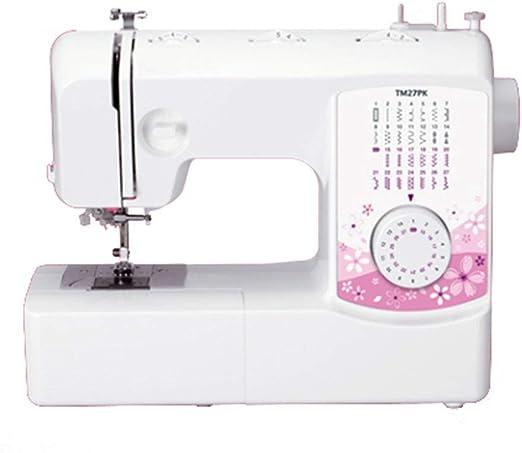 Máquina de coser multifuncional eléctrica portátil de 27 puntadas ...