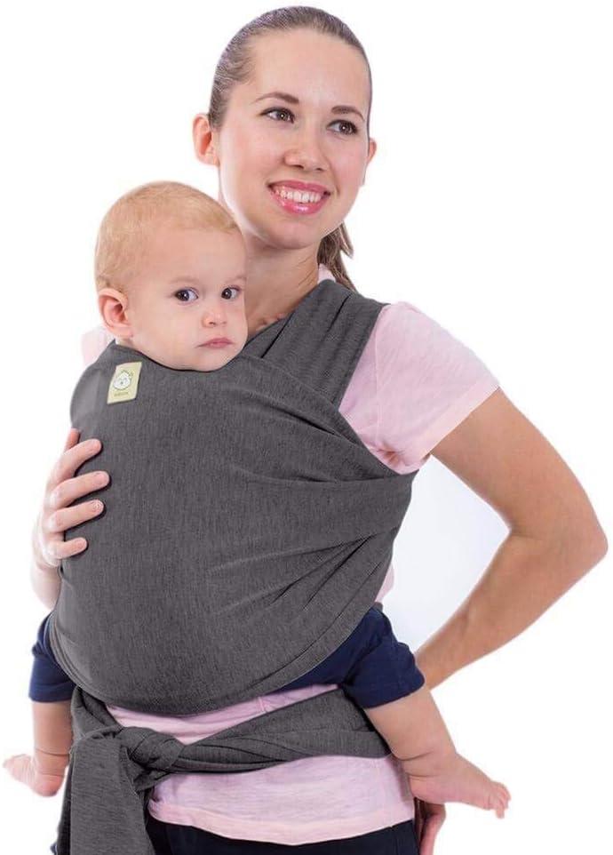 Fular portabebés - Fular portabebés elástico todo en 1 - Portabebés lateral - Mochila Portabebés - Fular para bebés - Fular portabebés manos libres - El mejor regalo de Baby Shower (gris místico)
