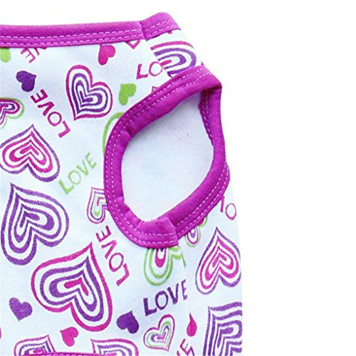 Image of haoricu Puppy Clothes, Chiens Cat Dog Winter Vest Pet Clothes Dog Cat Clothing Girl Cute Warm Pet Custome (XS, Purple)