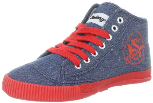 Shulong ShuDenim High SDE-H Unisex-Erwachsene Sneaker Rot (Red)