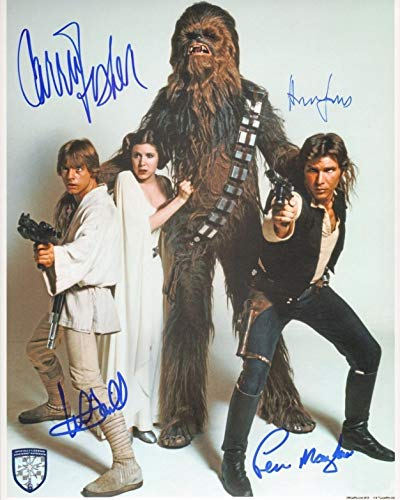 STAR WARS CAST - Reprint 8x10 inch Photograph - Harrison Ford Carrie Fisher Mark Hamill Peter Mayhew