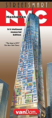 StreetSmart NYC Map by VanDam - City Street Map of Manhattan, New York, in 9/11 National Memorial Edition - Laminated folding pocket size city travel and subway map of New York City, 2017 - Detail Map