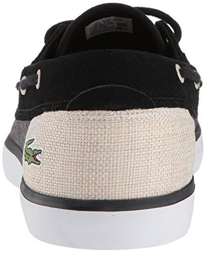 Lacoste Heren Jouer Dek Sneaker Zwart Canvas