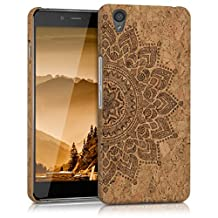 kwmobile cork cover for OnePlus X - Protective case cover in Design Rising sun