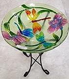 18%22 Dragon Fly Glass Bowl%2Fbirdbath a