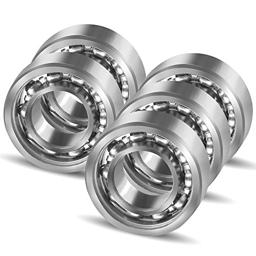 Coogam R188 Nano Stainless Steel 10 Ball Bearing for Fidget Spinner DIY Replacement,High Speed Smooth Quiet Durable,Pack of 5 (Size R188) (High Speed Bearing)