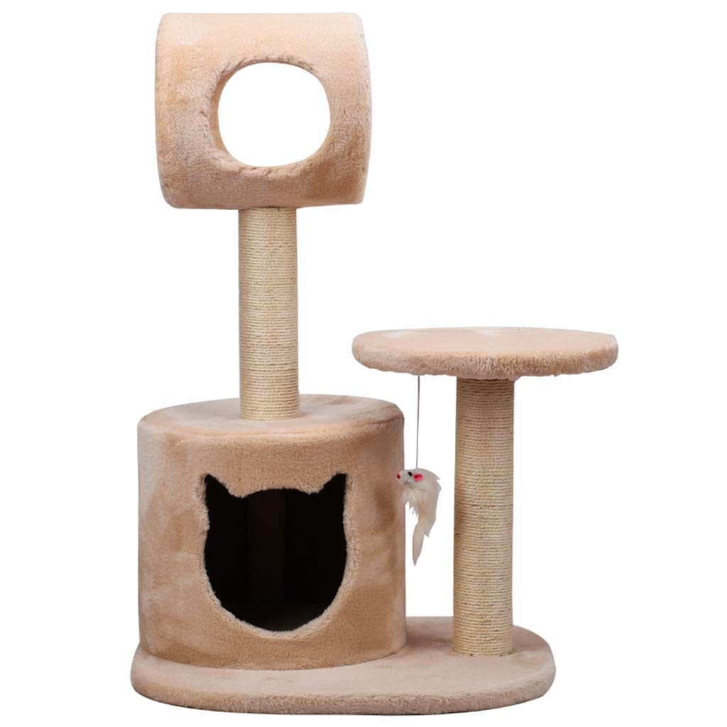 B Pet nest simple and stable cat park sisal large cat cat play cat climbing frame cat scratch board column cat litter one villa beige