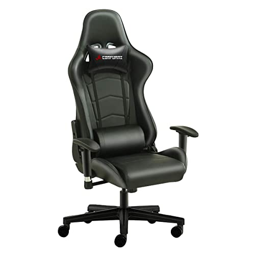 comfortable gaming chair double seat jl comfurni gaming chair chesterfield ergonomic swivel office high back heavy duty home computer comfy chair amazoncouk