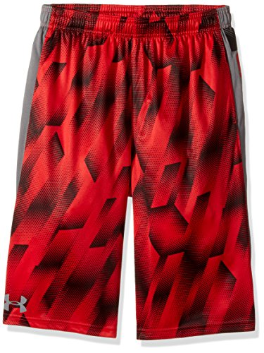 Under Armour Boys' Eliminator Printed Shorts, Red/Graphite, Youth Small