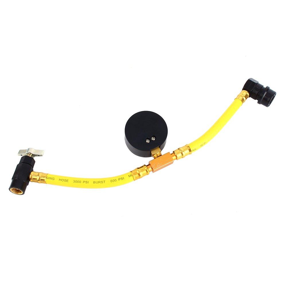 K/ühlmittel R134/A Recharge Schlauch 1//5,1/cm mit Auto Klimaanlage Manometer