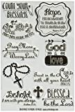 UCHIS DESIGN R101 4'' x 6'' Blessings Uchi's Design Clear Stamps