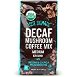 Four Sigmatic Organic Swiss Water Decaf Ground Mushroom Coffee with Reishi and Chaga, 12 Ounce