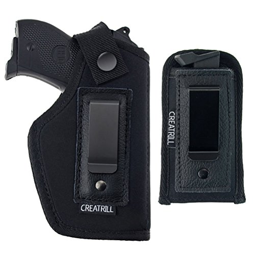 CREATRILL IWB Gun & Magazine Holster For Concealed Carry | Inside The Waistband | Fits S&W M&P Shield Taurus PT111 G2 Sig Sauer Glock 17 19 26 27 29 30 33 42 43 Springfield XD Ruger LC9 (Large, Right)
