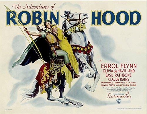 Posterazzi The Adventures of Robin Hood from Left: Errol Flynn Olivia Dehavilland 1938. Movie Masterprint Poster Print (14 x 11)