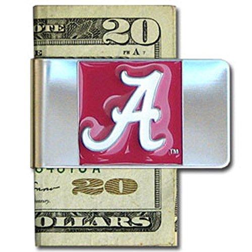 UNIVERSITY OF ALABAMA CRIMSON TIDE stainless steel logo design Money Clip/Card Holder (Tide Paper Crimson Clip Alabama)