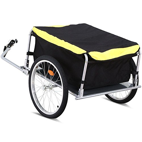 Yaheetech Garden Bike Bicycle Cargo Luggage Trailer-Yellow/Black by Yaheetech (Image #8)