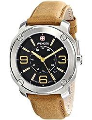 Wenger Mens 01.1051.102 Escort Analog Display Swiss Quartz Brown Watch
