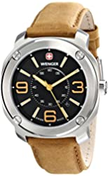Wenger Men's 01.1051.102 Escort Analog Display Swiss Quartz Brown Watch