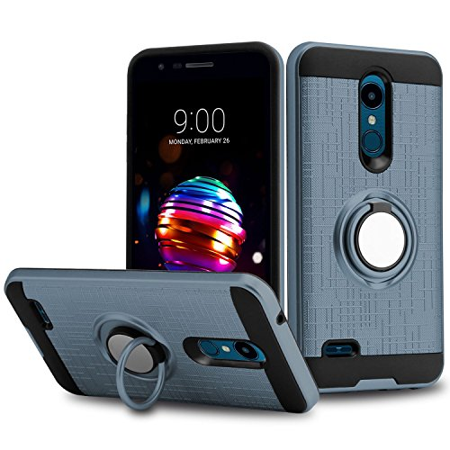 (Liwarace LG K30 Case, LG K10 2018 Case, LG Harmony 2 Case, [Ring Kickstand Series] 360 Degree Rotatable Ring Stand Fit Magnetic Car Mount Case Cover for LG Premier Pro)
