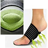 JERN Extra Thick Cushioned Compression Arch Support with More Padded Comfort for Plantar Fasciitis, Fallen Arches, Heel Spurs, Flat and Achy Feet Problems- 1 Pair (For Men and Women)