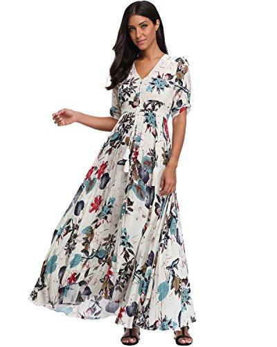 BestWendding-Summer-Floral-Print-Maxi-Dress-Women-Button-up-Split-Long-Flowy-Bohemian-Beach-Party-Dresses-Whitefloral-2-X-Large