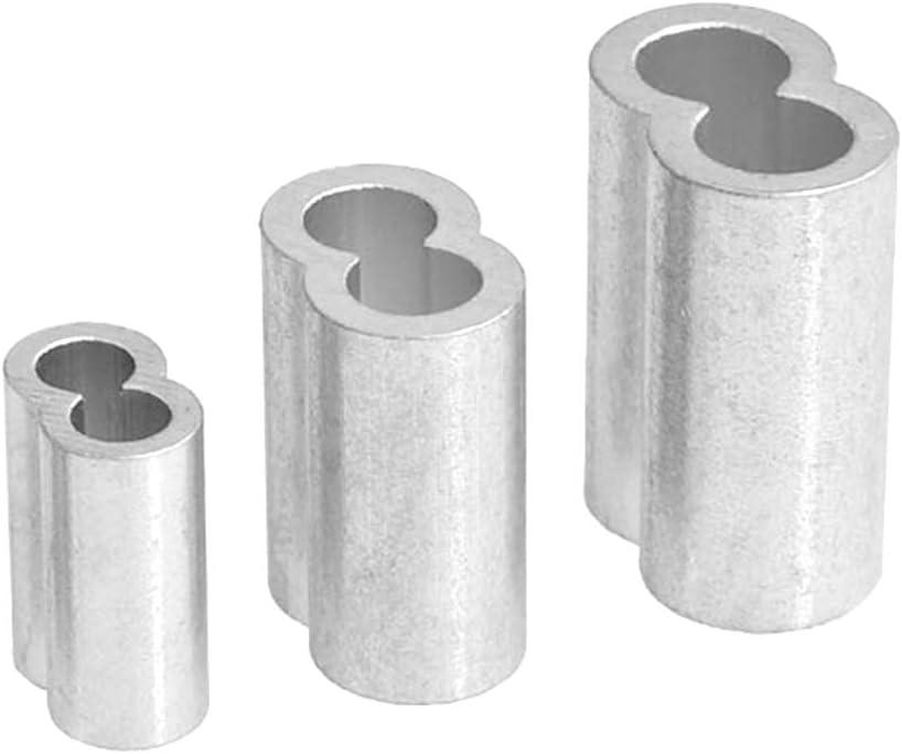 10mm 8mm Manchon de c/âble m/étallique embouts m/étalliques /à sertir 35pcs Gwolf Ferrules en aluminium 3 tailles Clip pour manchons en aluminium pour c/âble m/étallique 6mm