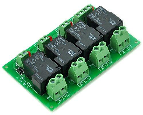 ELECTRONICS-SALON Coil 24V Passive 4 Channel SPST-NO 30A 30Amp Power Relay Module.