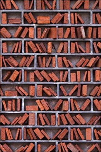 Book Library Wall Made of Brick Journal: 150 page lined notebook/diary
