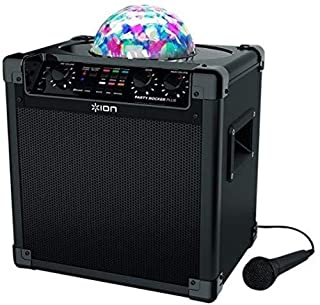 ION Audio Party Rocker Plus | Rechargeable Speaker with Spinning Party Lights & Karaoke Effects (50W) (B01F73LCYM) | Amazon price tracker / tracking, Amazon price history charts, Amazon price watches, Amazon price drop alerts