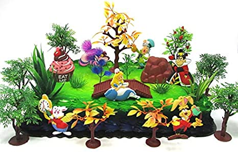 Outstanding Amazon Com Disney Alice In Wonderland Birthday Cake Topper Set Personalised Birthday Cards Cominlily Jamesorg