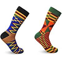ADVANSYNC Kente Cloth Socks for Dress or Casual Novelty