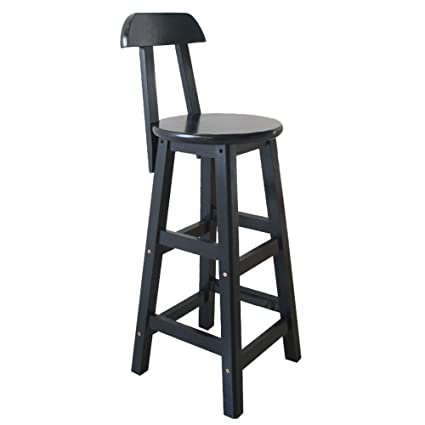 Amazon.com: Vintage Bar Chair - Backstool with Wooden Bars ...