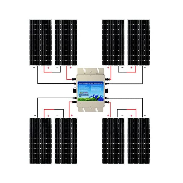 ECO-WORTHY-1200W-Grid-Tie-Monocrystalline-Solar-Panel-Kit-1200W-MPPT-Function-Waterproof-Grid-Tie-Micro-Power-Inverter-8pcs-160W-Mono-Solar-Panels