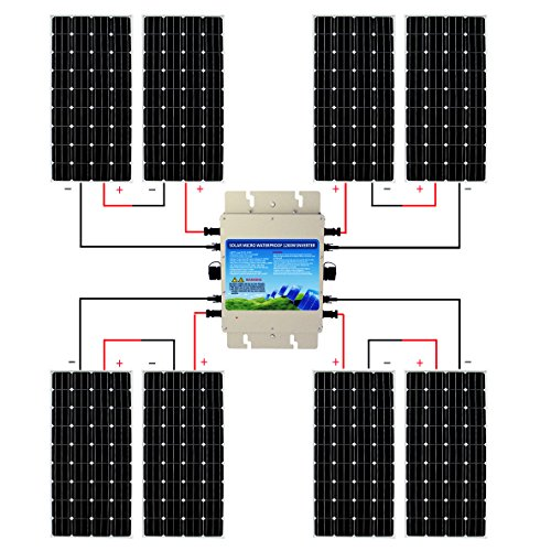 ECO-WORTHY-1200W-Grid-Tie-Monocrystalline-Solar-Panel-Kit-1200W-MPPT-Function-Waterproof-Grid-Tie-Micro-Power-Inverter-8pcs-160W-Mono-Solar-Panels