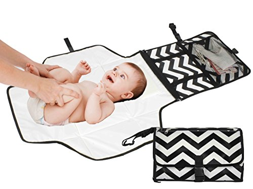 Travel Diaper Changing Pad for Babies - Foldable Mat with Detachable Changing Pa…