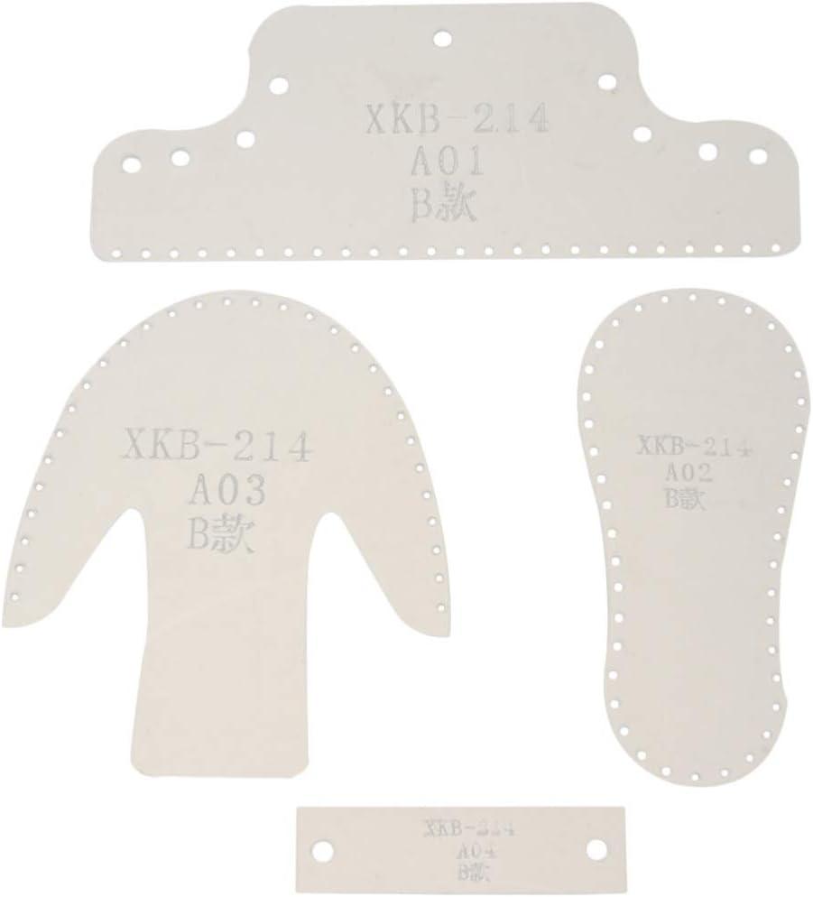 Artibetter Kit de Plantillas de Plantilla de Acrílico Mini Botas de Cuero Portátiles Colgantes Herramienta de Artesanía de Encanto para Diy Llavero Zapatos de Muñeca Decoración de Bolso