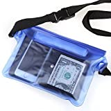 Crenova BP-02 100% Waterproof Pouch Snowproof Dirtproof Sandproof Case Bag with Super Lightweight and Bigger Space; Adjustable and Extra-Long Belt; Perfect for Beach / Swimming / Boating / Fishing; 3 Colors Optional