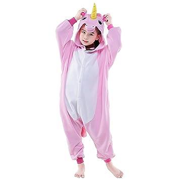 Tongchou Kids Onesie Animal Pyjamas Homewear Sleepsuit Halloween Cosplay  Costume Pink Pegasus Size 140  Amazon.co.uk  Baby d7f732e7c