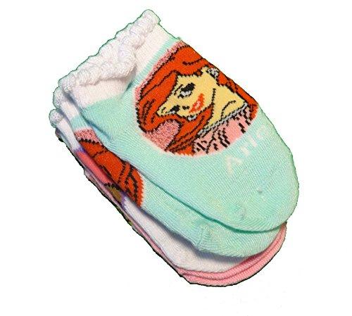 Disney Princess Toddler Girls 3 Pack Socks - Aurora / Belle / Ariel (18-24 M for $<!--$6.49-->