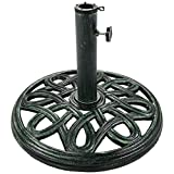 Sunnydaze Heavy-Duty Round 17-Inch Cast Iron Outdoor Decorative Patio Umbrella Base Stand